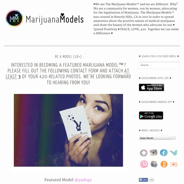 Want to be a Marijuana Model? Go to www.TheMarijuanaModels.com/be-a-model and you can submit pics to us!  @padoga pictured ️