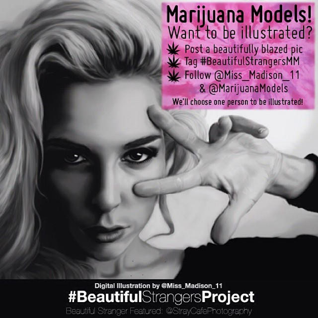 LAST CHANCE TO ENTER!  Want to be illustrated by the talented @miss_madison_11?? Post a beautifully blazed pic that you'd want illustrated. Tag Follow @miss_madison_11 & @MarijuanaModels We'll announce the woman chosen tomorrow!