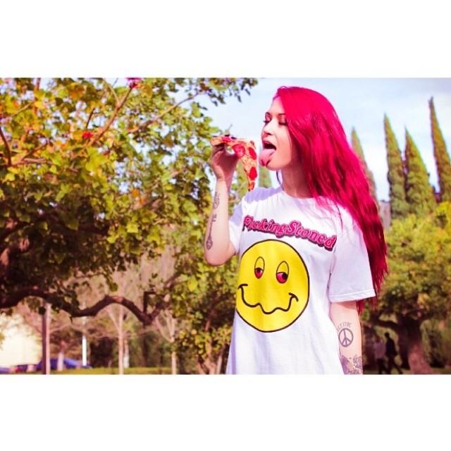 Awesome lady @ladylovette sick shirt @touchekvlt and pizza nom nom