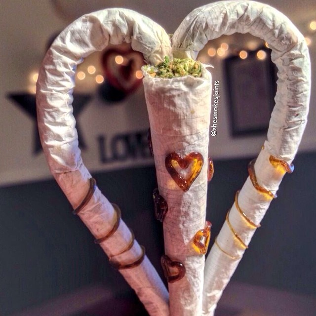 Happy Valentine's Day my lovesxo Marijuana Models  Everyone's using this pic without credit so I put the picture taker and joint roller's name on it! @shesmokesjoints