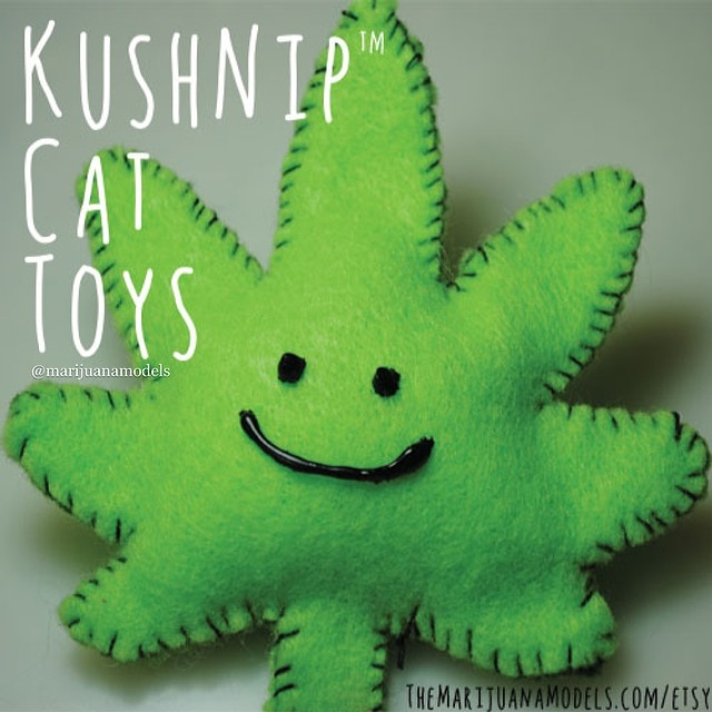 KUSHnip your stoner kitty wants one right meow ️ Handmade, organic catnip toys now available in our shop. Link in bio!
