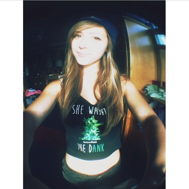 Ft Model @kittydankk in the new crop loooove itCheck out our shop for tanks, crops, & tees for girls & guys!