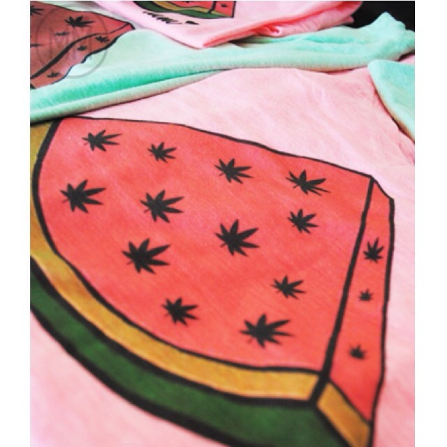 "I just listed the only 4 WEEDMELON VNECKS - 2 PINK 2 GREEN ◡̈ Use rep code ""LEGALIZATION"" for 10% your shop order!!! ☮ ♡"
