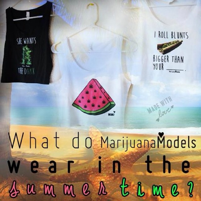 We love our #marijuanamodels! Snag your tanks & crops before summer's over! International shipping 🌎️ Link to shop in bio!