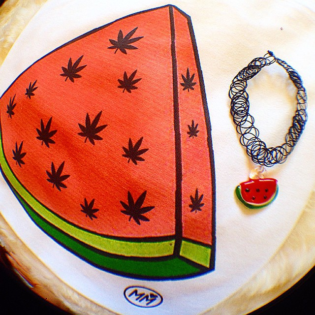 Our WeedMelon tops go great with our Watermelon chokers!!!  You can get both in our shop. Link in bio! ️