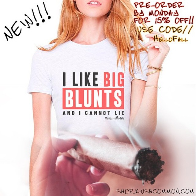 "I like big BLUNTS and I cannot lie  ALL  tees, tanks & chokers available today for 15% off. Use code ""HelloFall"" at checkout! Link in bio️"