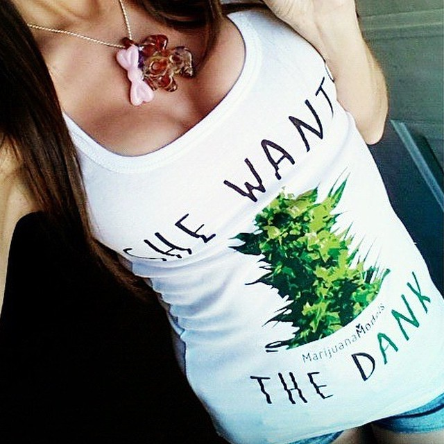 Ft Model @swishersweetie  She Wants the DANK apparel available in our shop! .::www.shop.kushcommon.com::.