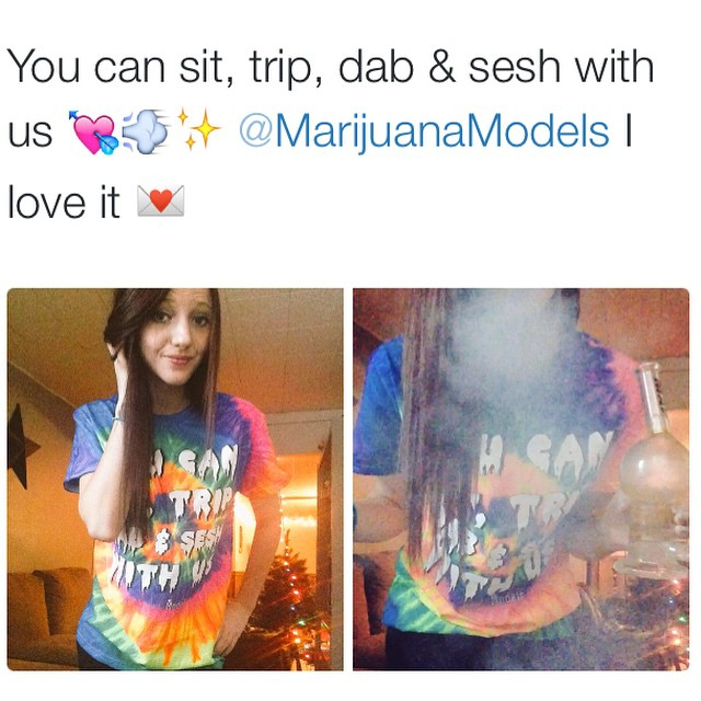 @Desireeyonker_ is lovin her You Can tee! ️ Did you grab yours yet? This tie dye is a limited release-once its gone it is gone! ️SHOP.KUSHCOMMON.COM