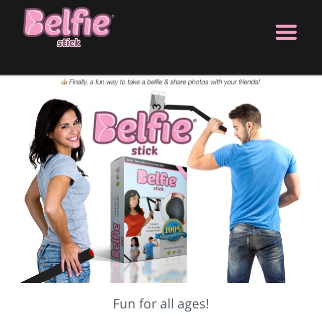 I think we all know someone on Instagram who would use this Butt Selfie stick... Am I right? Lmao