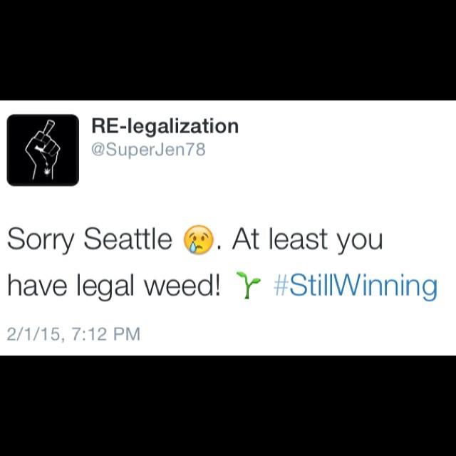 Lol @relegalization