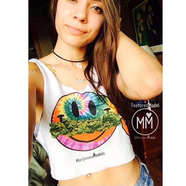 OG Featured Model @wanderlust_soul Rockin her Smiley Weedstache tee! ️Visit our shop at ️SHOP.KUSHCOMMON.COM