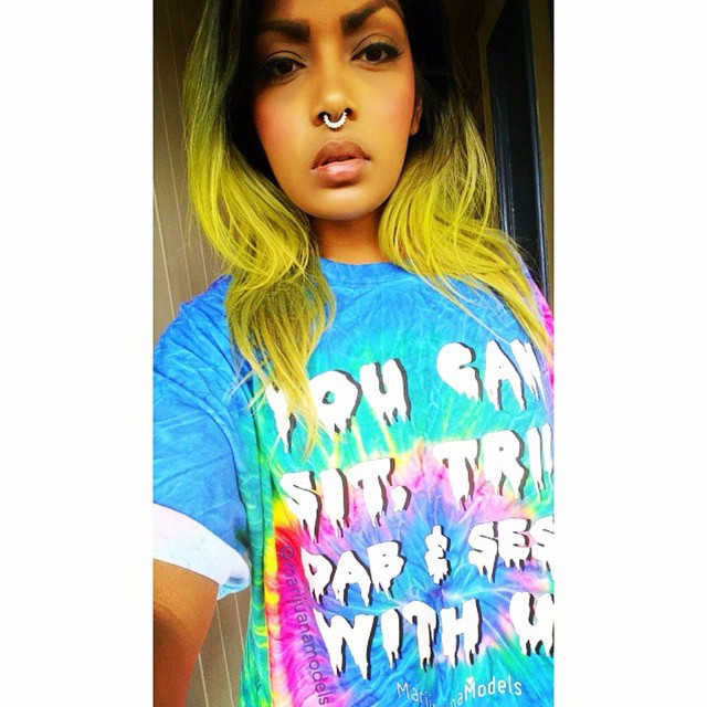 The lovely @romi_rose420 got her Tie-Dye tee! There are 2 YOU CAN PRINTS left in these limited edition colors! Rather have it as a crop? Let me know ASAP and I'll make one for you size XS-L!️ Just mailed one off today for a bb to wear to Love you guys! Thanks for being a part of our fam!
