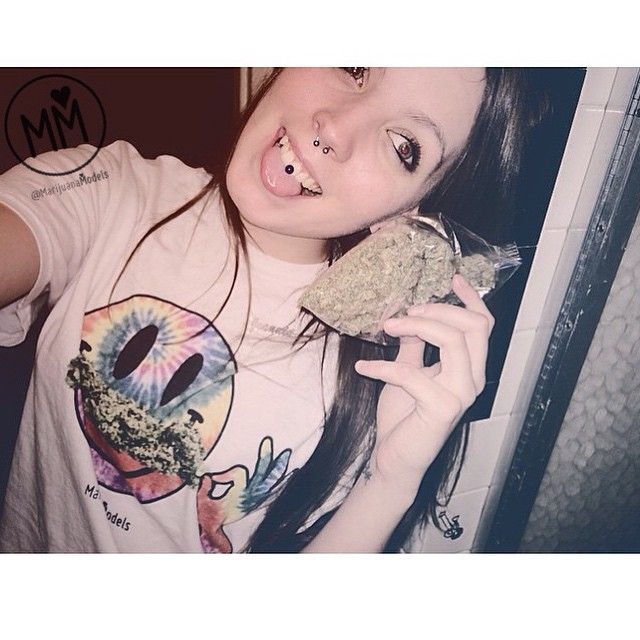 @cloudyhaze_ always showing us love in her awesome tee collection Thank you bb!️ Smiley Weedstache tees up in our shop! Link in bio! 😛️SHOP.KUSHCOMMON.COM