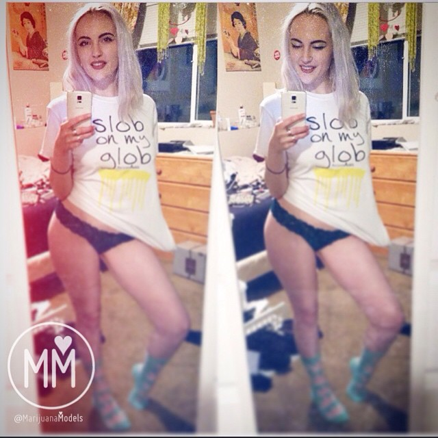 @ladylivvvy in her SLOB ON MY GLOB tee  ️Back in stock this Friday March 20th! ️SHOP.KUSHCOMMON.COM