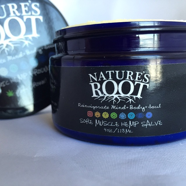 Super excited about these new hemp body products from @naturesroot!!! This salve is my fave  I usually put it on my sore muscles after a workout I feel so lucky to have gotten to work on this project with @naturesroot and the awesome ppl at @colorado_hemp_project be sure to check out the new website and take advantage of free US shipping for their grand opening!! There is a coffee hemp scrub, peppermint hemp scrub, and this sore muscle salve currently available! Much Love WWW.TRYNATURESROOT.COM