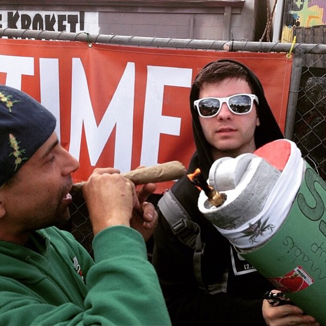 HAPPY 4/20! Who's at the cup!? Be sure to say hi to our friend @motivational_methods and have him light you up with his giant green bic Have a great day wherever you are cannafam!