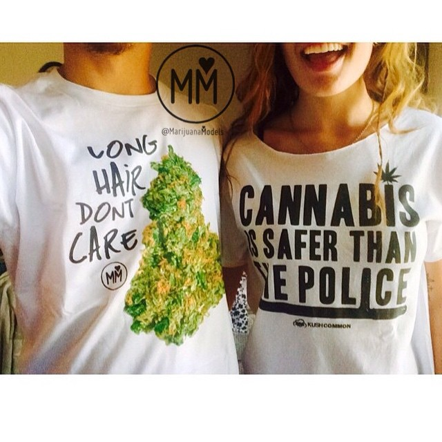 This makes me extra happy️ Featuring @x.lc_ LONG HAIR DON'T CARE & Cannabis is safer than the police tees are available in our shop! Tommy Chong was wearing one of our tees to the cannabis cup this weekend Link in bio! Send us your pics so we can feature you!️