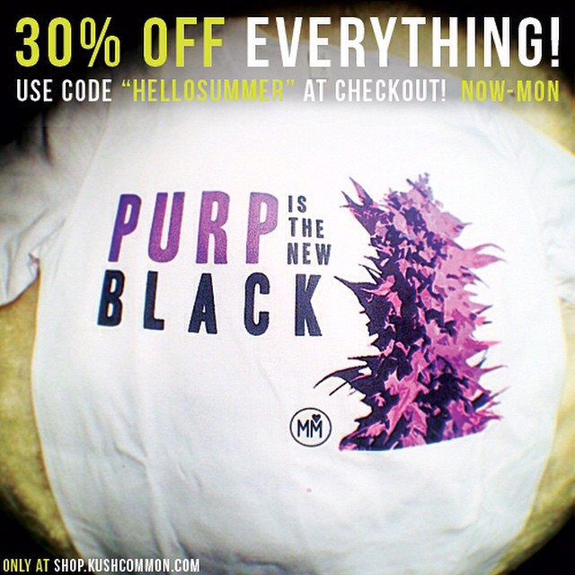 "PURP is the new black! ️EVERYTHING in our shop is 30% off starting right NOW!️That makes most of our tees $13 or less! Use ""HELLOSUMMER"" at checkout to get the 30% off until Monday!Link to shop in bio! 😇"