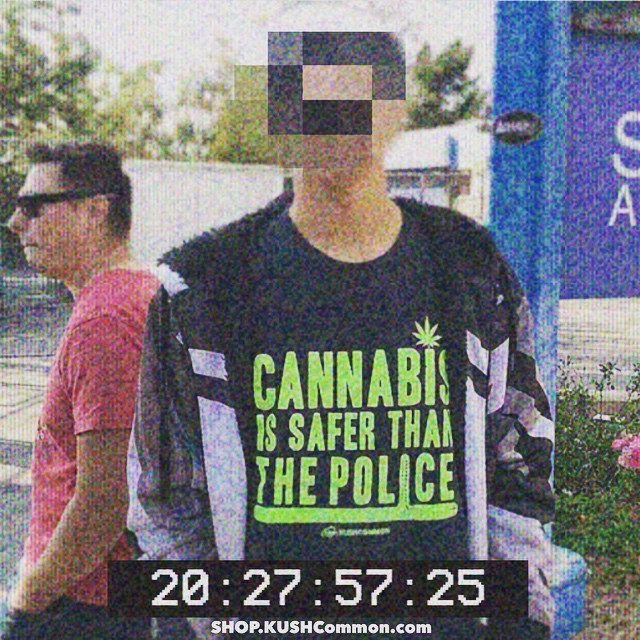 We're all being watched  Original picture from @de_la_sherm 💭Cannabis is safer than the police tee available in our shop at SHOP.KUSHCommon.com