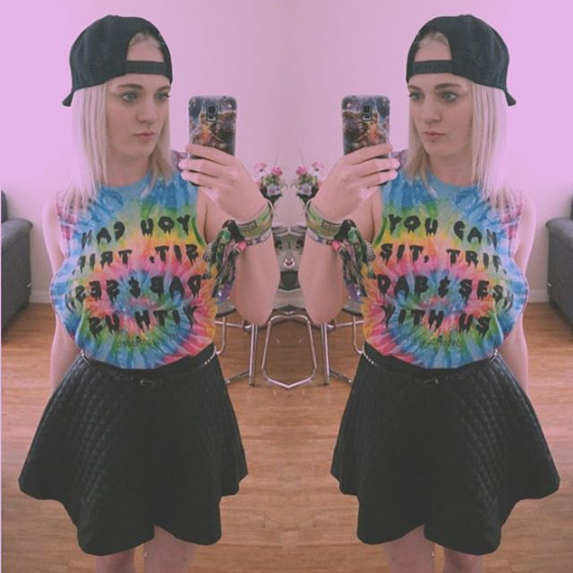 @jadebuxton93 lookin cute in her YOU CAN cutoff tee️ Restocked in our shop! Link in bio
