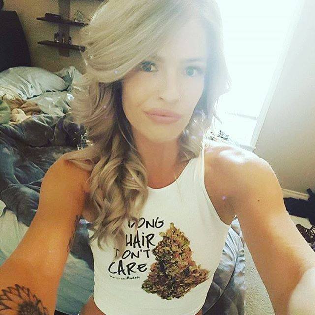 "@d_l0ve_89 rocking her Long Hair Don't Care crop .::.::.::.::. Also available in our shop as a tee or tank! Black Friday through Cyber Monday use code ""holidaze"" for 30% off!!!!! www.shop.kushcommon.com"