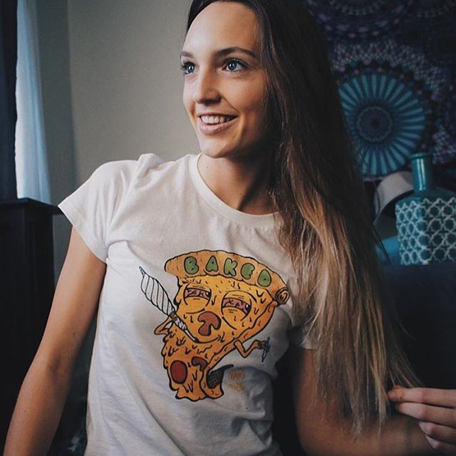 """Love this shot of @torrrance in her Baked tee!! Great snag from our Dimebag sale section! Head to www.shop.kushcommon.com and use """"HOLIDAZE"""" at checkout for 30% off through Monday! *dimebag items excluded; everything else 30% off!"""