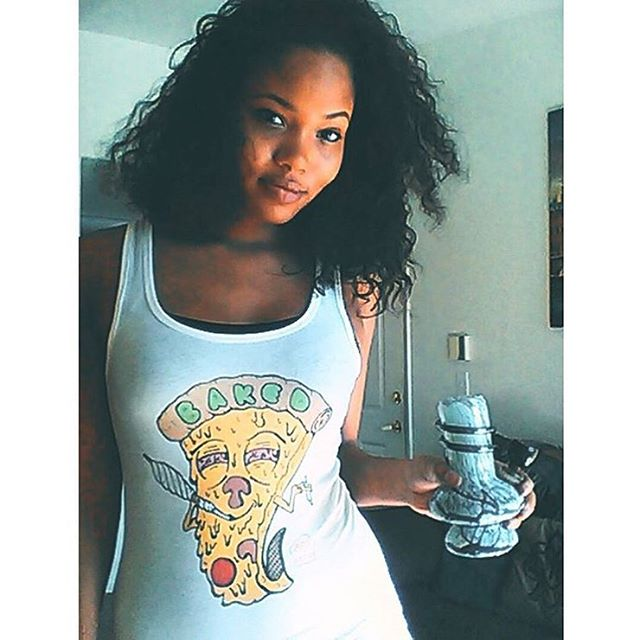 @dgaf_ lookin gorg in her Baked tank️ Available at the link in my bio🌍 www.shop.kushcommon.com