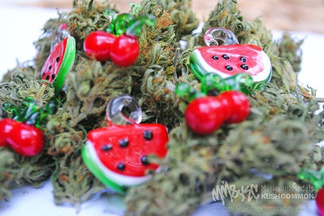 Fruity glass pendant chokers available  in our shop! Link in bio!
