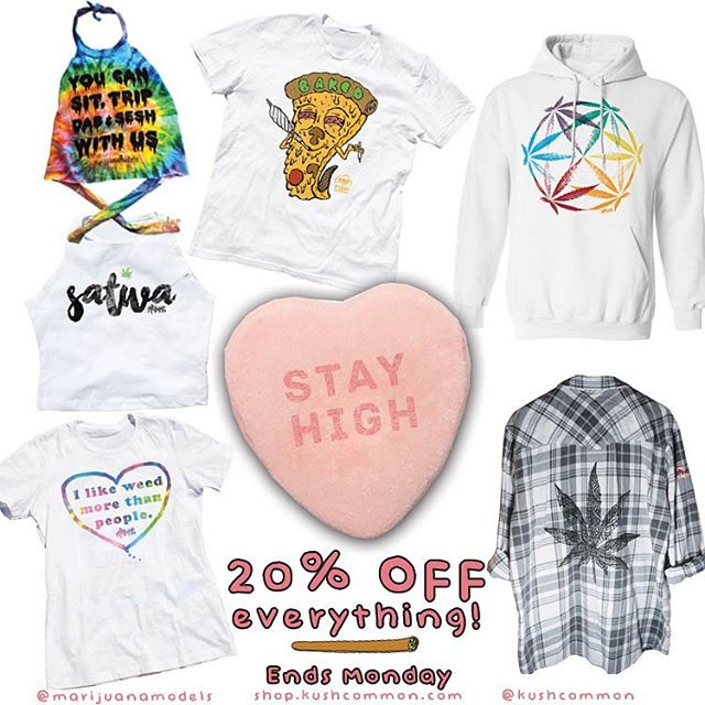 "😇 20% OFF our WHOLE shop today and tomorrow!! Just use ""StayHigh"" at checkout Sale includes flannels, hoodies, tees, tanks, crops, chokers, EVERYTHING! ️ Link in bio"