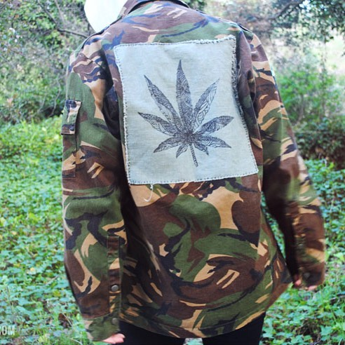 Peace Dealer///Dream Dealer Jackets available in the shop! Vintage camo x & accents 📬www.shop.kushcommon.com