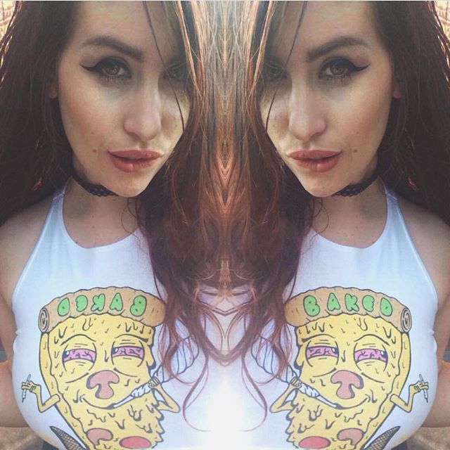 Ft @we_smoke_dank in the baked crop😛 A variety of Baked apparel is back available at the link in our bio